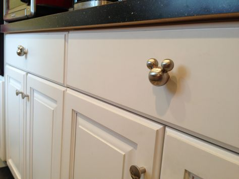One of the coolest Disney merchandise EVER!! I've always wanted these!! Mickey Mouse Drawer pulls or Cabinet Knobs for the kitchen, bathroom, or bedroom