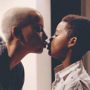 Amber Rose Gets Momshamed For Kissing Her Son Celebrity Moms