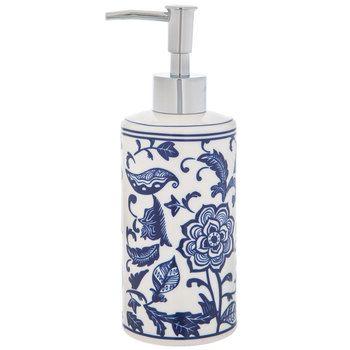 Blue White Floral Soap Dispenser Soap Dispenser Floral Soap Soap