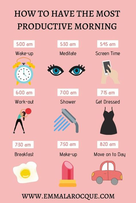 How to have the most productive morning : productive