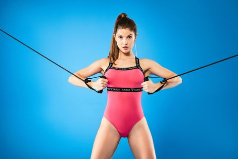 Amanda Cerny The New Face Of Guess Activewear Social Media Star