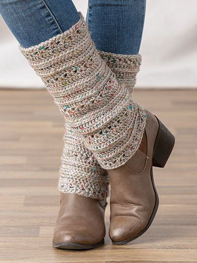 What's New - Cold Day Leg Warmers Crochet Pattern - Crochet Socks Pattern, Crochet Boot Cuffs, Crochet Leg Warmers, Crochet Boots, Crochet Mittens, Crochet Slippers, Crochet Stitches, Knit Crochet, Double Crochet