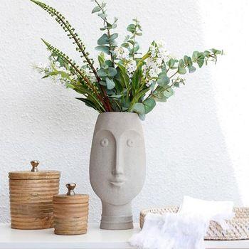 2018 Wholesale Concrete Face Plant Pot Cement Face Flower Vase View Concrete Face Plant Pot Better Way Product Details From Xiamen Better Way Industry Tra Face Plant Pot Flower Vases Plant Vase