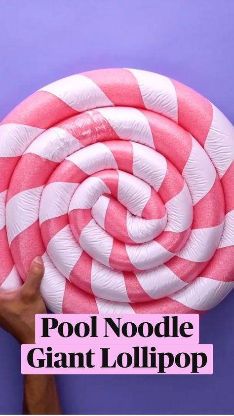 DIY Pool NoodleGiant Lollipop