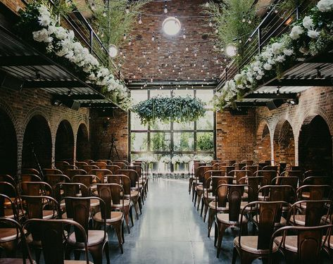 Warehouse Wedding Inspiration the foundry wedding venue in an industrial warehouse conversion in new york<br> A former factory or warehouse wouldn't be the obvious choice for a wedding or reception, but couples are spotting their potential. Wedding Ceremony Ideas, Cheap Wedding Venues, Wedding Reception Planning, Barn Wedding Venue, Outdoor Wedding Venues, Wedding Locations, Wedding Events, Seattle Wedding Venues, Wedding Programs