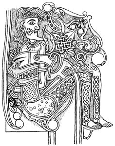 Celtic Ornament Design from Book of Kells Coloring page | mandalas ...