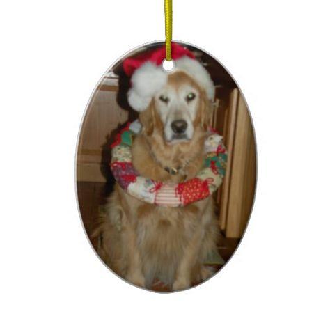Golden Retriever Christmas Ornament Golden Retriever Christmas