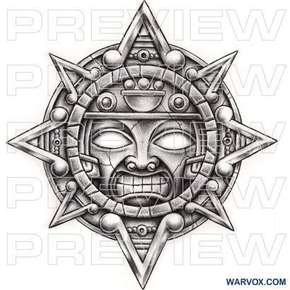 Aztec Tattoos Sleeve, Arm Tattoos, Tattoo Ink, Female Tattoos, Zeus Tattoo, Mask Tattoo, Symbol Tattoos, Tattoo Flash, Mayan Symbols