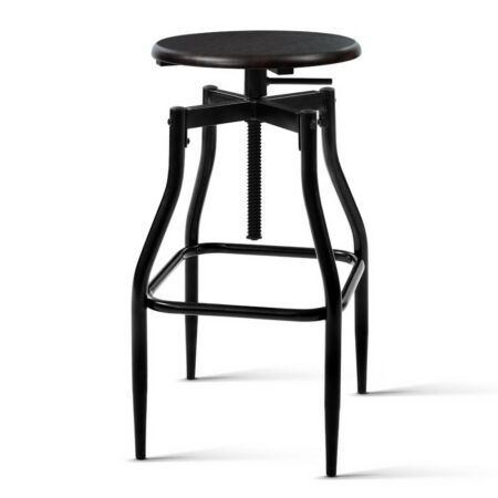 New Artiss 2 X Vintage Kitchen Bar Stools Swivel Industrial Bar Stool Retro Rustic Dining Furnitur Wooden Bar Stools Industrial Bar Stools Bar Stools