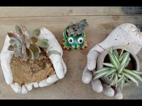 Como Hacer Piedras Plato Para Tu Jardin Youtube Macetas De Cemento Macetas Maceteros De Cemento