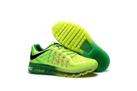 meet 22590 b76fb 2017 Coming Nike Air Max 2015 Fluorescein Green Net Sports Shoes