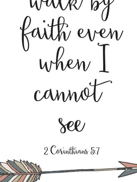 Arrow art, 2 Corinthians 5:7, Arrow print, Walk by faith art, Walk by faith, Not by sight, Home decor, Christian wall art, Scripture BD-120
