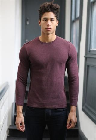 Topman Burgundy long sleeve top T-shirt hipster grunge from Pretty ...
