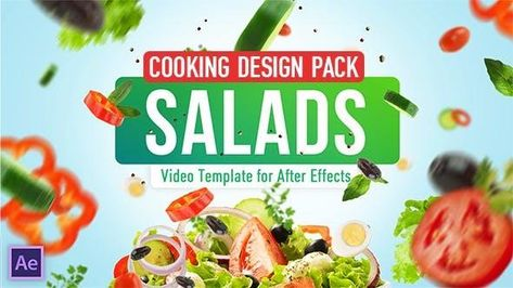 Cooking Salad Recipes Template - After Effects Template