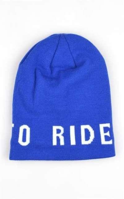 Born To Ride Czapka Zimowajacquard Komin Blue Riding Blue Shopping