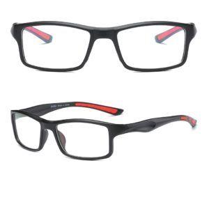 a466e45a1255b armação esportiva quadrada masculina preta detalhe vermelho ...