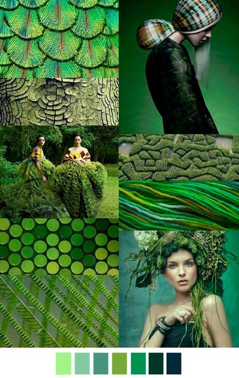 GREEN PEACE SS 2016 - this color palette would look good in a woodland/forest theme wedding.