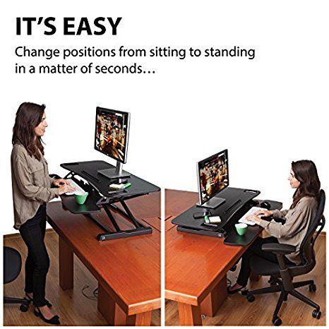 Amazon Com Adjustable Standing Desk Converter By G Pack Pro