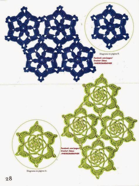 Como Hacer Módulos Y Flores En Crochet Flores De Crochet