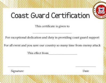 Coast Guard Officer Promotion Certificate Template Certificate Templates Templates Certificate
