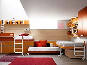 Dormitorio Para 3 Camas Triples Bedrooms For 3 Cool Bunk Beds Cool Loft Beds Bunk Bed Designs