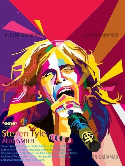 Image result for steven tyler pop art   Celebrity Art Portrait   Pinterest   Pop art