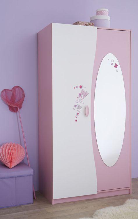 Armoire 2 Portes Papillon Decoration Chambre Enfant Meubles De