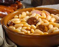 Recipe Fabada Asturiana Bean Stew From Asturias Spanish Food And Paella Pans From Hotpaella Com With Images Authentic Spanish Recipes Food Recipes Spain Food