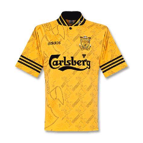 95 96 Liverpool Third Away Yellow Retro Soccer Jerseys Shirt Cheap Soccer Jerseys Shop In 2020 Jersey Shirt Classic Football Shirts Soccer Jersey