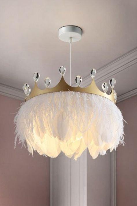 Girl Bedroom Designs, Girls Bedroom, My Room, Girl Room, Baby Room Decor, Bedroom Decor, Feather Lamp, Princess Room, Diy Home Decor