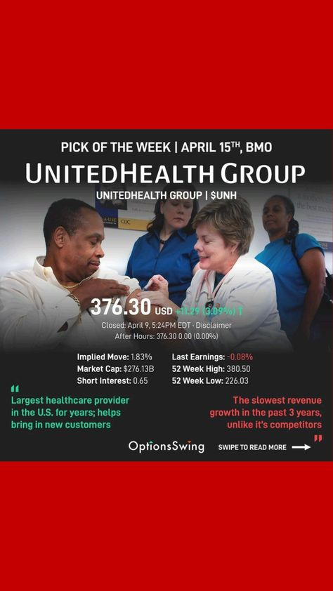 United health group stock forecast!