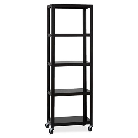 Lorell Steel Mobile Series Bookcase 4 Shelf 6h Black By Office Depot Officemax Etagere Bookcase Bookcase Garage Shelving Units