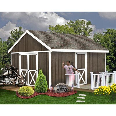 Best Barns Easton 12 Ft W Solid Wood Traditional Storage Shed