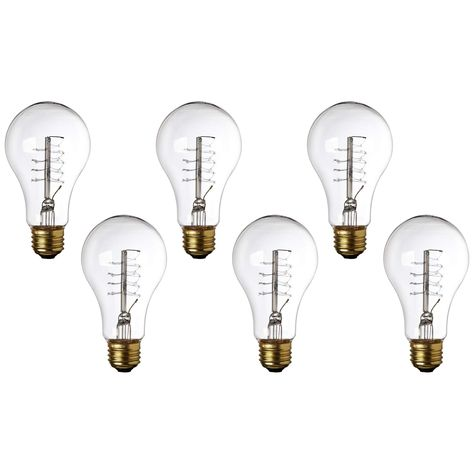 Light Bulbs Tesler Clear 60 Watt Standard Base Edison Style Bulb 6 Pack Edison Style Bulb Bulb Light Bulbs