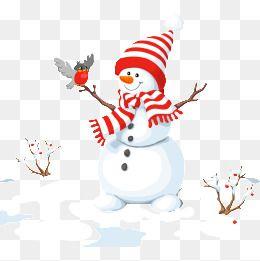 Snow cartoon. Snowman clipart winter christmas