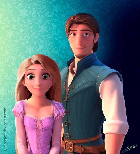 Rapunzel and Eugene by Mongoft