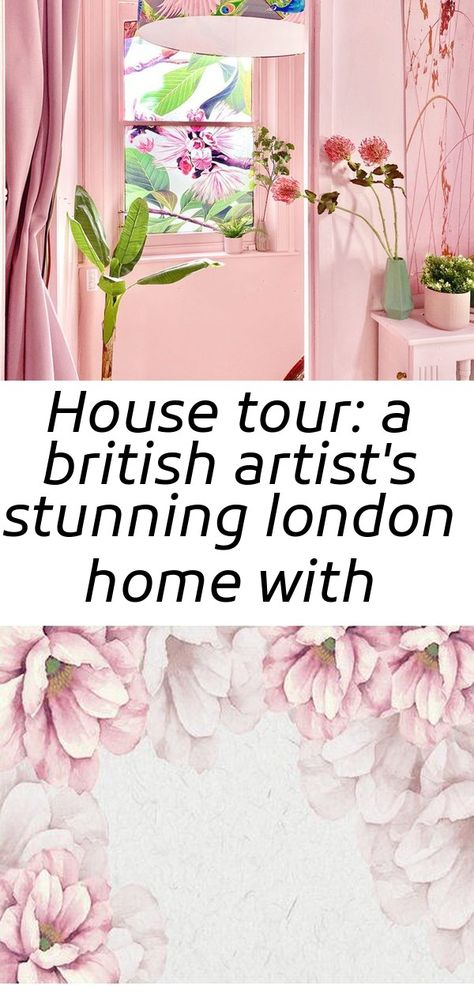 House tour: a british artist's stunning london home with fresh, pastel hues & colourful wall murals