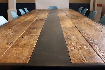 Modern Wood Dining Room Table dining room table recycled wood | reclaimed wood table - modern
