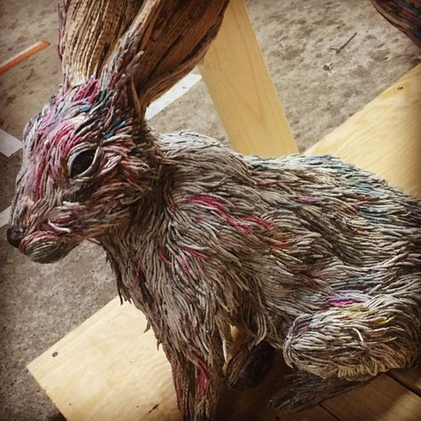 Animal Sculptures Made Out Of Rolled Newspaper By Chie Hitotsuyama - Japanese artist tightly rolls newspapers to craft incredibly accurate animal sculptures