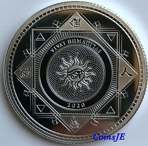 2020 5 Tokelau Vivat Humanitas 1 Oz 999 Fine Silver Proof Like Round Coin Ebay In 2020 Fine Silver Silver Coins