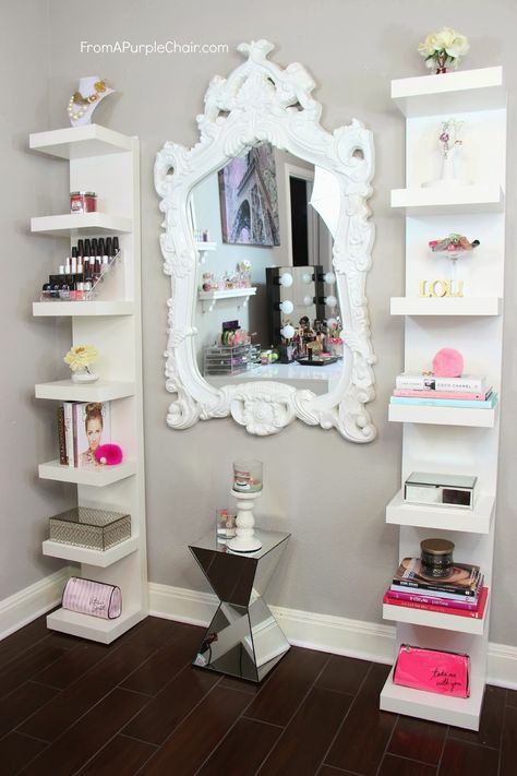 From A Purple Chair: Beauty Room Decor - How I Style My Ikea Shelves