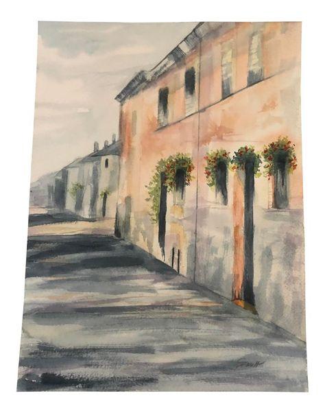 "Contemporary Nancy Smith Original Watercolor ""Between the Sunlight and Shadows"""