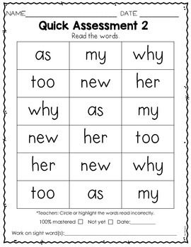 Sight Word Practice Kindergarten Set 3 | Grade 1 English ...