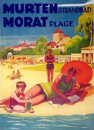 Switzerland Luzern 1932 Schweiz Vintage Poster Print Travel Lake Luzern