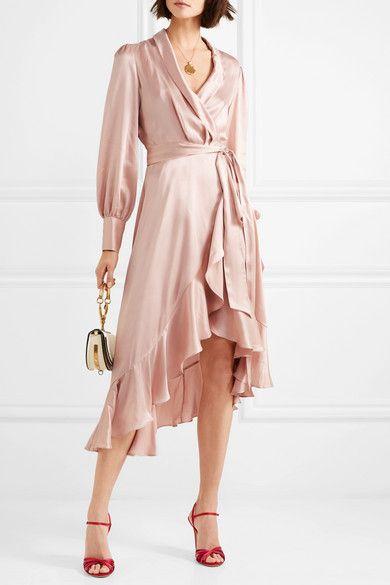 Zimmermann Ruffled washed silk wrap dress | Wrap dress