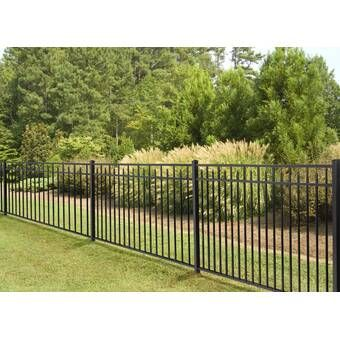 4 Ft H X 7 Ft W Traditional Classic Fence Panel Metal Fence Panels Metal Fence Aluminum Fence
