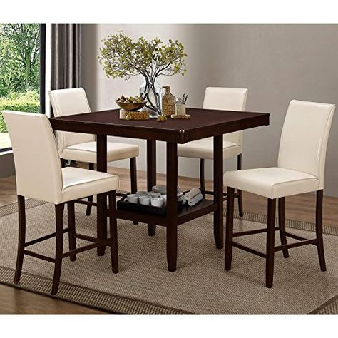 Ciara Espresso 5 Pc 48 Round Counter Height Dining Set