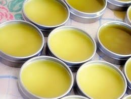 Homemade Vapor Rub Recipe:  Beeswax, Olive Oil, Peppermint Essential Oil, & Eucalyptus Essential Oil.