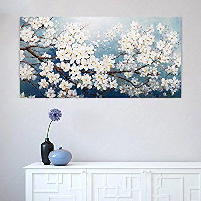 Kunstloft Bilder kunstloft® acryl gemälde 'glamour in white' 140x70cm | original