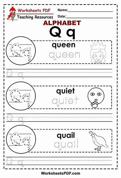 Letter Q Worksheets Preschool Lovely Letter Q A To Z Alphabet Worksheets Pdf Coloring letter q worksheets preschool